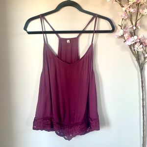 FREE PEOPLE / DETAILED CAMI TANK TOP
